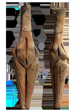 Πήλινο ειδώλιο όρθιας γυναικείας μορφής (ΑΜΘ 160) © ΥΠΠΟΑ-ΑΜΘ