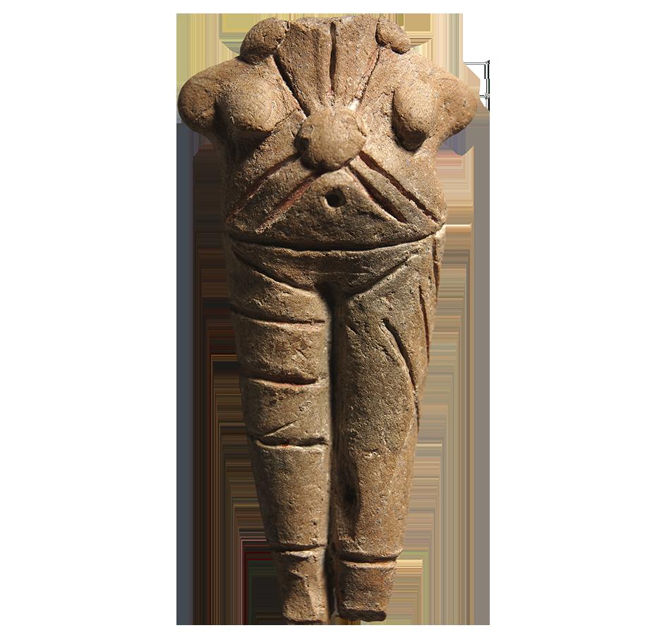 Πήλινο ειδώλιο όρθιας γυναικείας μορφής (ΑΜΘ 171) © ΥΠΠΟΑ-ΑΜΘ