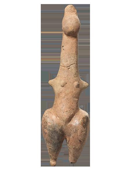 Πήλινο ειδώλιο όρθιας γυναικείας μορφής (ΜΘ 30463) © ΥΠΠΟΑ-ΑΜΘ