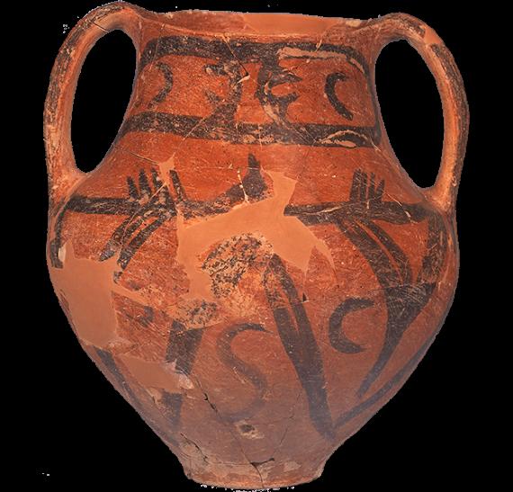 Νεολιθικός αμφορέας με γραπτή διακόσμηση