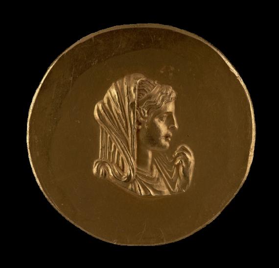 Χρυσό μετάλλιο με παράσταση της Ολυμπιάδας