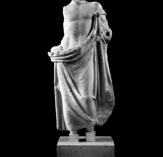 Αγαλμάτιο Ασκληπιού από την Όλυνθο (ΜΘ 226) ©ΥΠΠΟΑ-ΑΜΘ