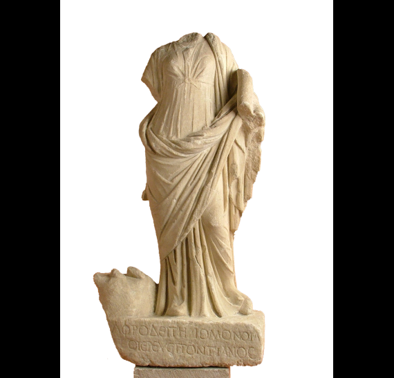 Statuette of Aphrodite Homonoia from the Sanctuary of the Egyptian Gods (Sarapeion) at Thessaloniki © 2019 YPPOA-AMTh