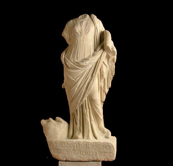 Statuette of Aphrodite Homonoia from the Sanctuary of the Egyptian Gods (Sarapeion) at Thessaloniki © 2019 YPPOA-AMTh