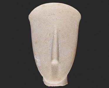 ΜΘ 10664. Κεφάλι και τμήμα λαιμού ειδωλίου. © ΥΠΠΟΑ-ΑΜΘ